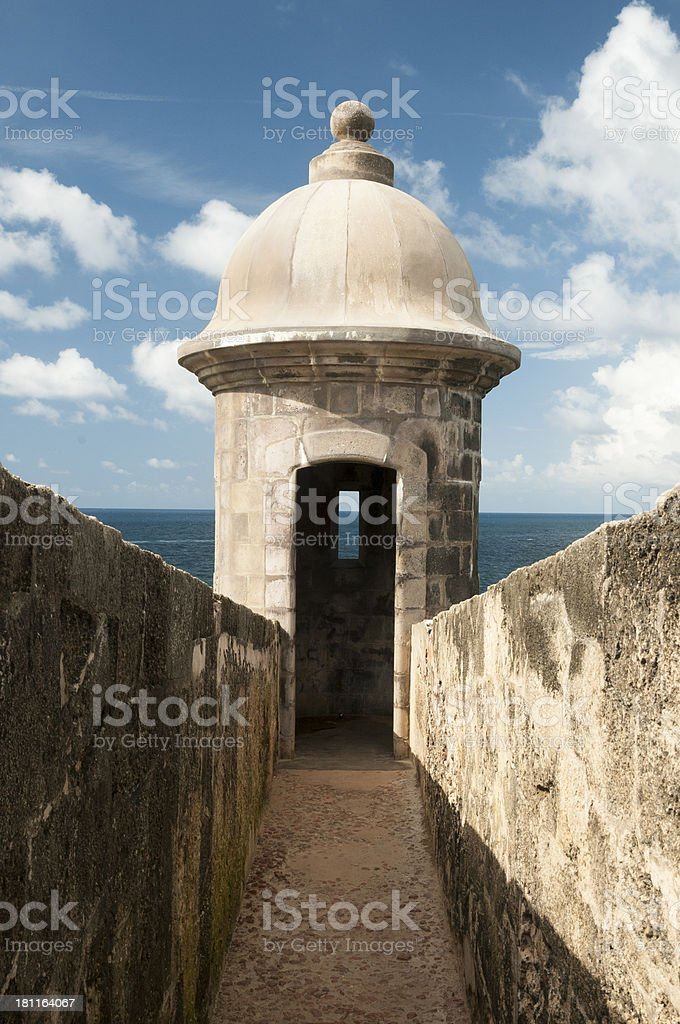 Sentry Box - San Juan, Puerto Rico stock photo