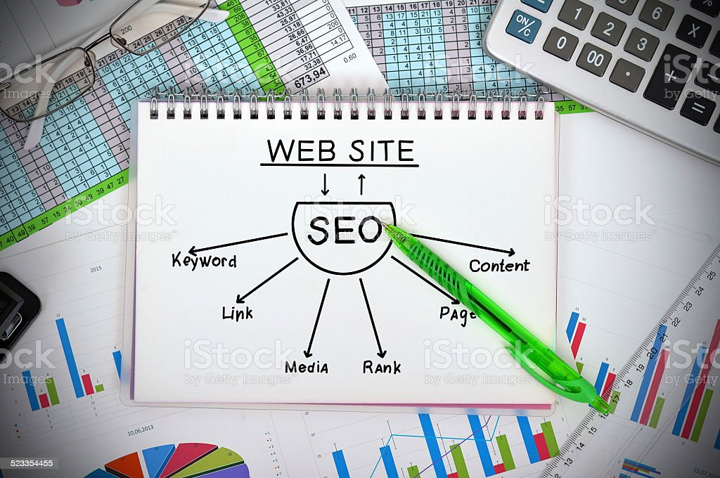 seo scheme stock photo