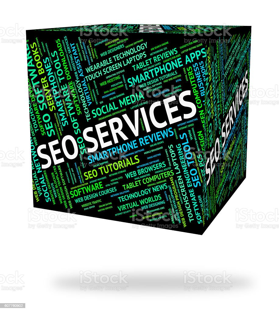Seo Services Indicates Help Desk And Assistance stock photo