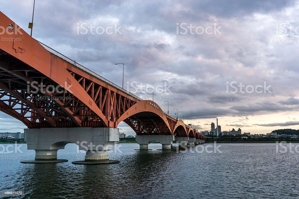 Seongsan Bridge stock photo