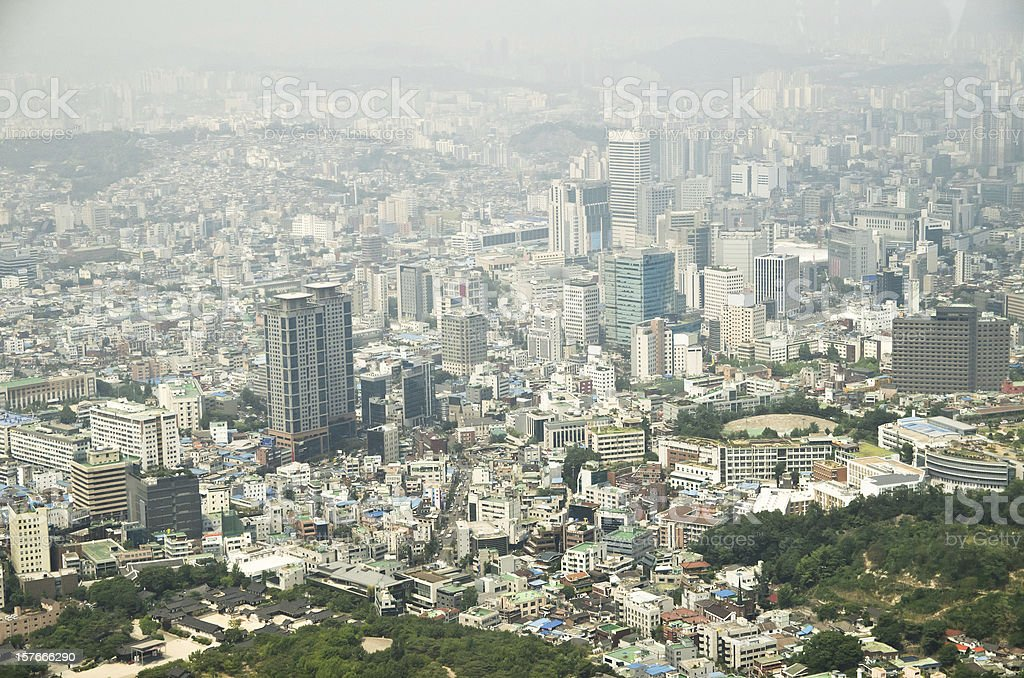 Seoul city of Korea royalty-free stock photo