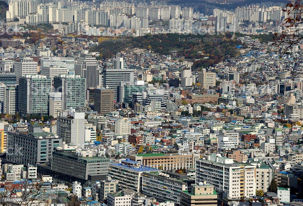 Seoul Cityscape At Daytime stock photo