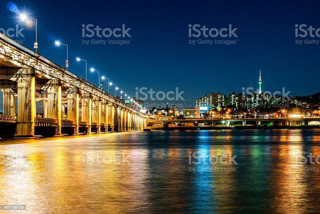 Seoul Cityscape, South Korea stock photo
