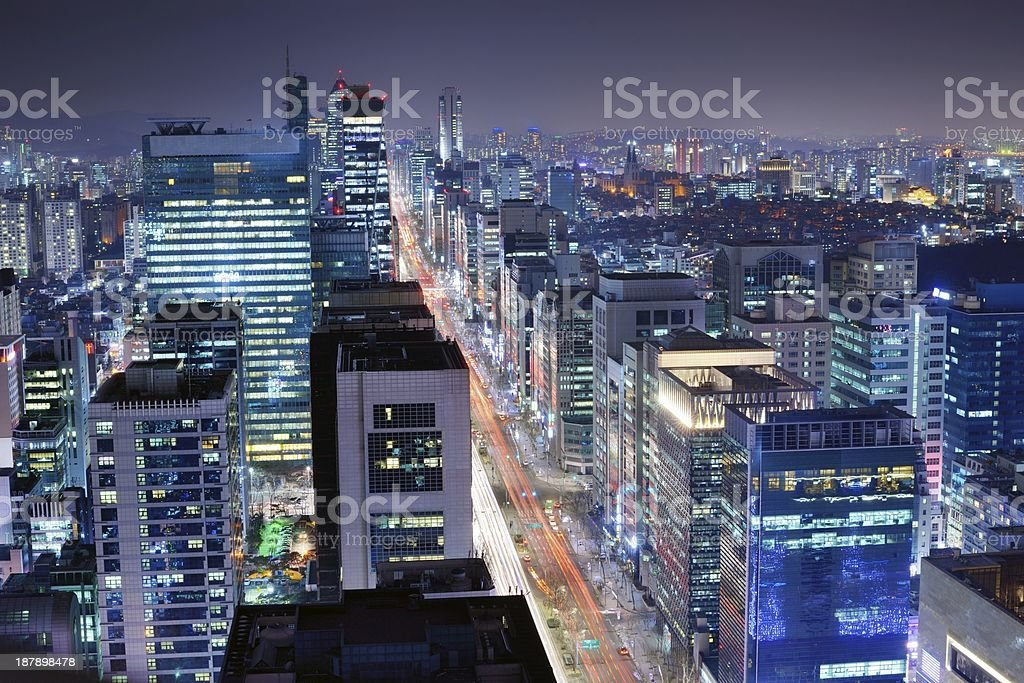 Seoul Gangnam District stock photo