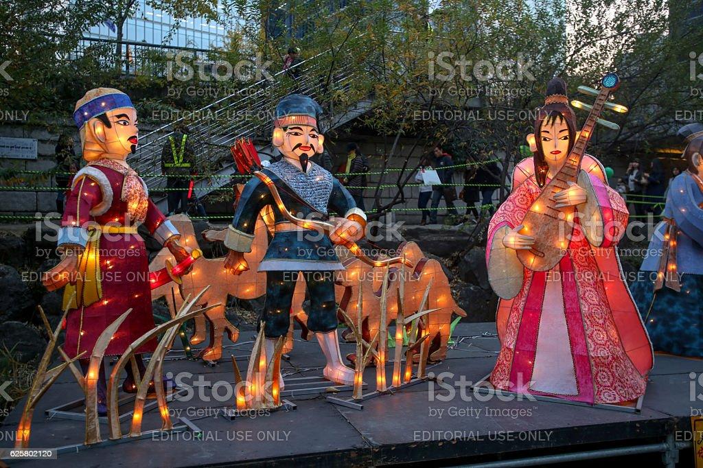 Seoul lantern festival stock photo