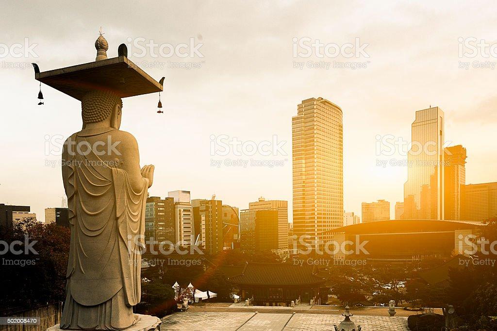 Seoul, South Korea Cityscape stock photo