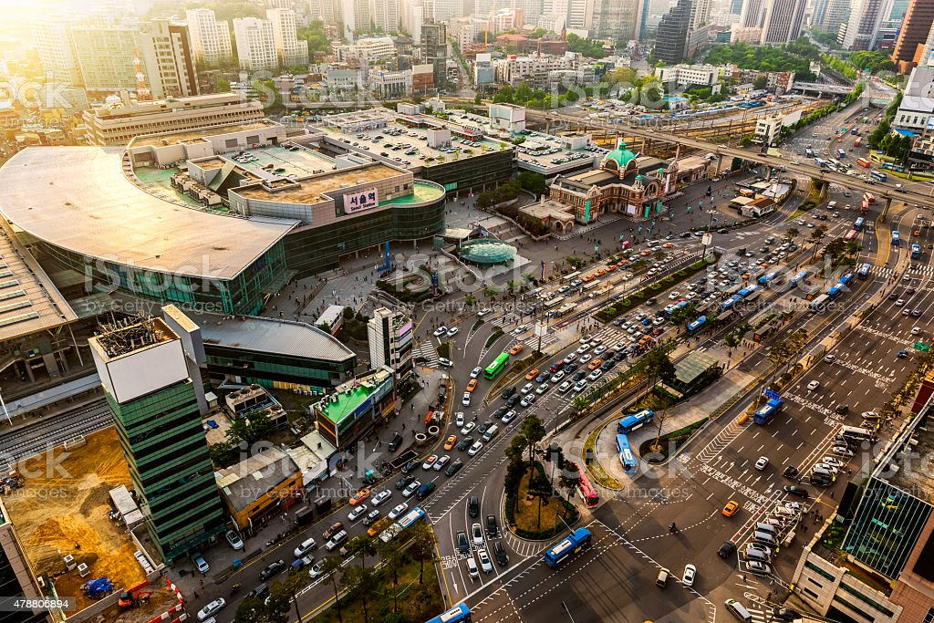 Seoul Station stock photo