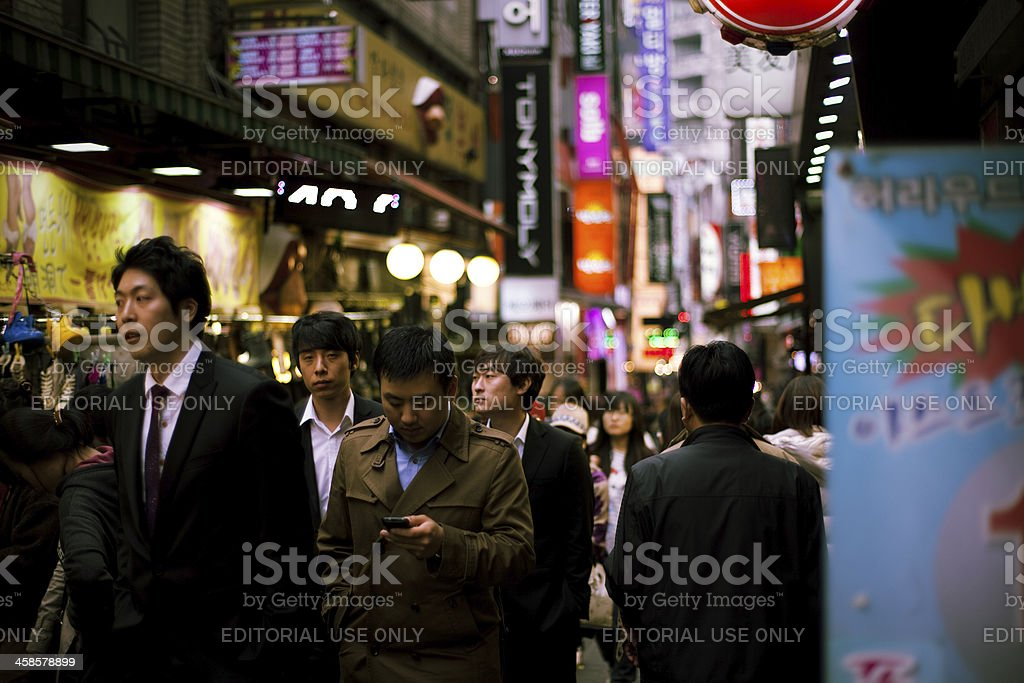 Seoul street stock photo