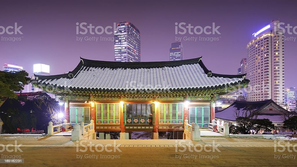 Seoul Temple stock photo