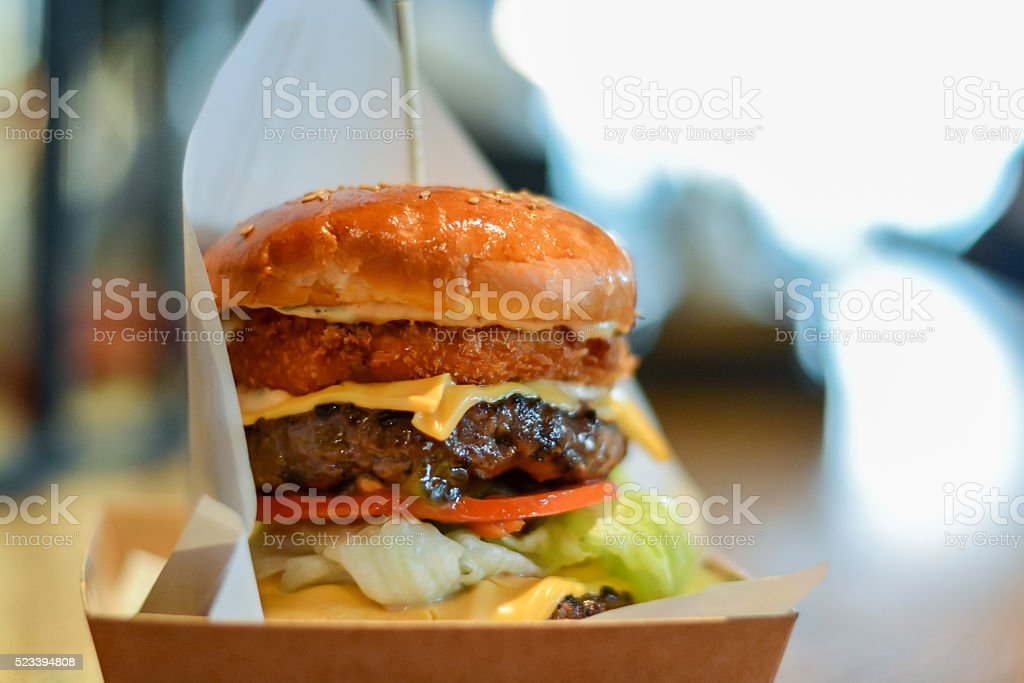 seoul tower burger stock photo