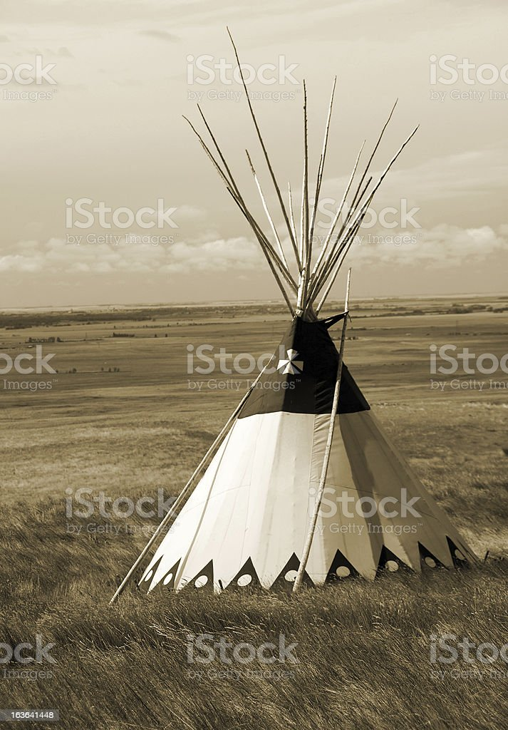 Sepai Teepee and Grasslands stock photo
