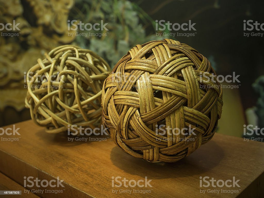 Sepak Takraw balls royalty-free stock photo