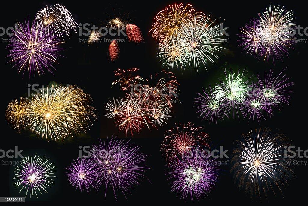 Separate-Feuerwerk Lizenzfreies stock-foto