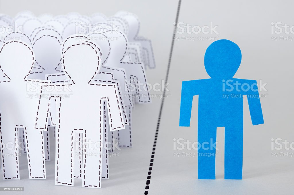Separated man stock photo