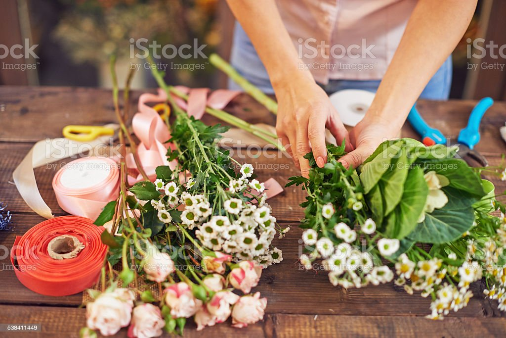 Separating flowers stock photo