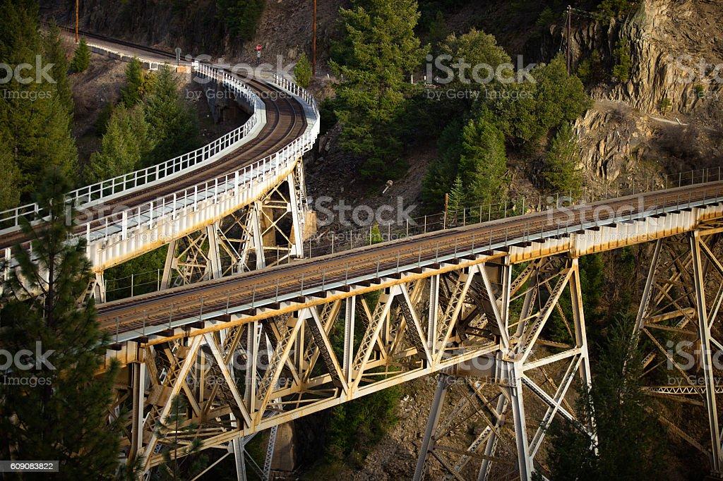 Separating Railway Bridges stock photo