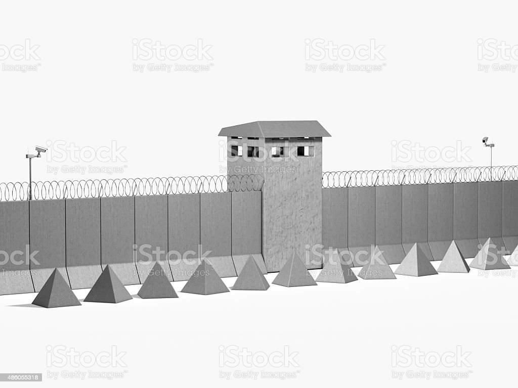 separation barrier on white background stock photo