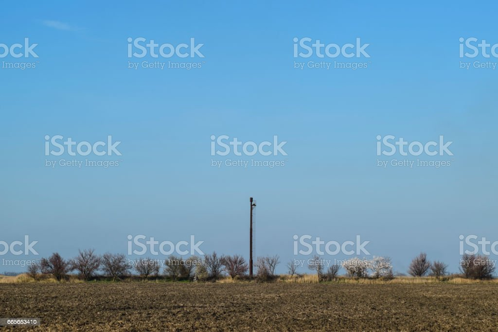 Separation station for oil and gas treatment. Oil and gas equipment. stock photo