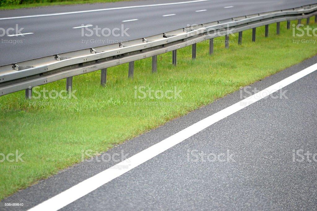 Separator on highway stock photo