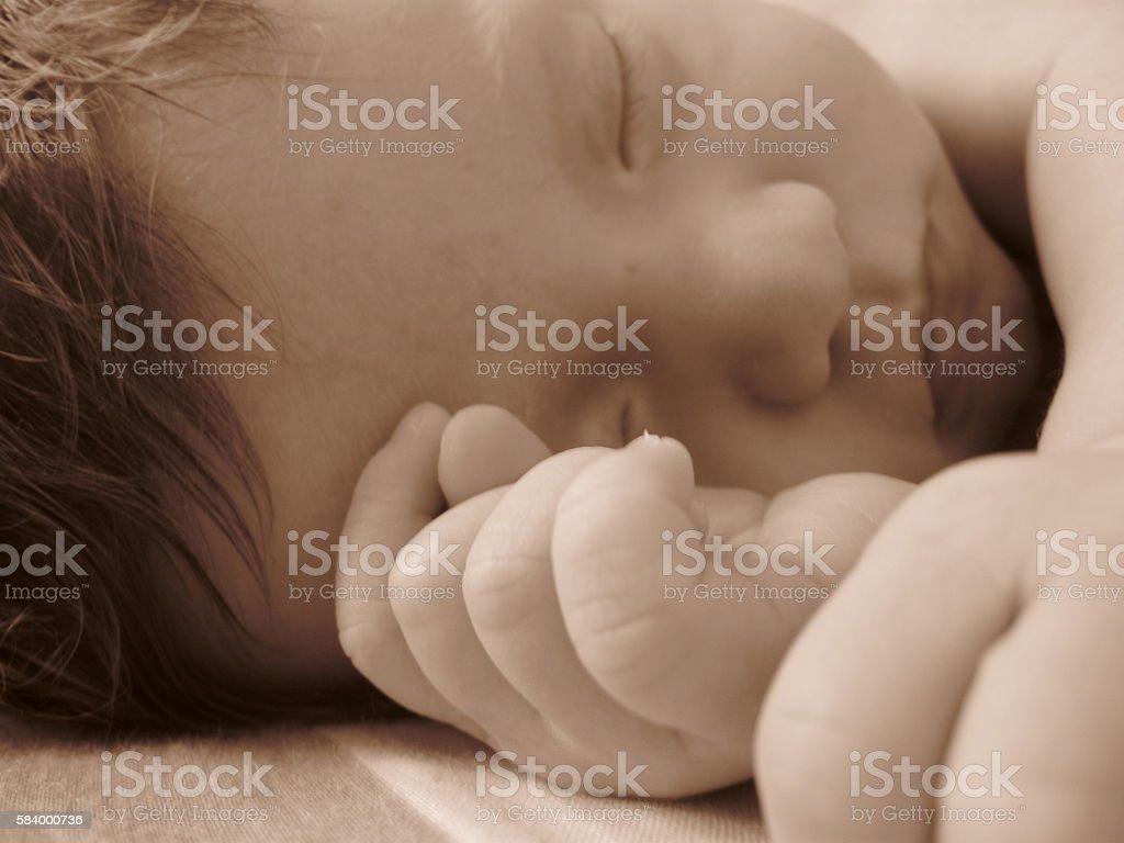 Sepia Baby Dreams stock photo