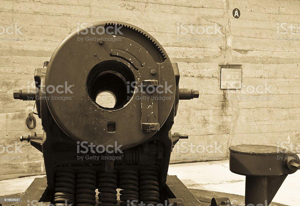 Sepia Canon Breech stock photo