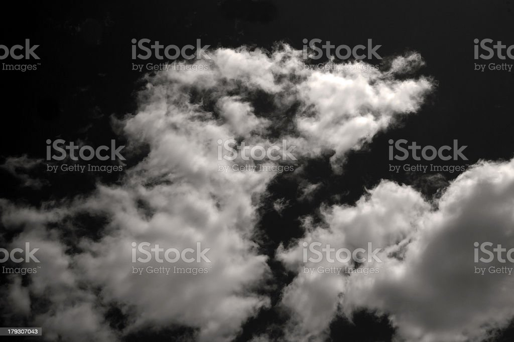 Sepia Clouds royalty-free stock photo