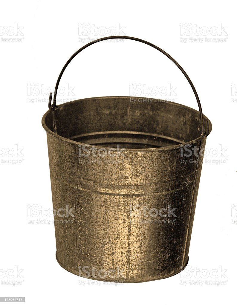 Sepia Colored Pail royalty-free stock photo