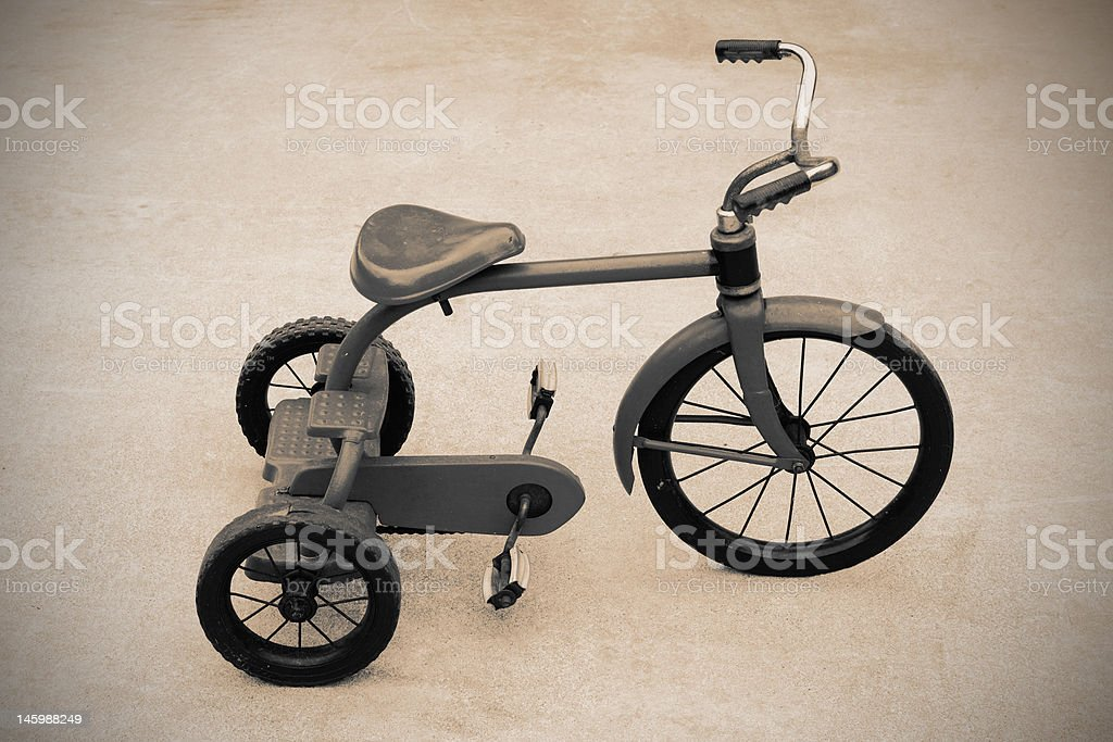 Sepia Old Fashioned Tricycle royalty-free stock photo