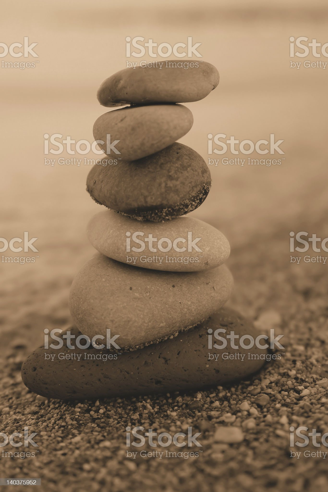 sepia pebbles royalty-free stock photo