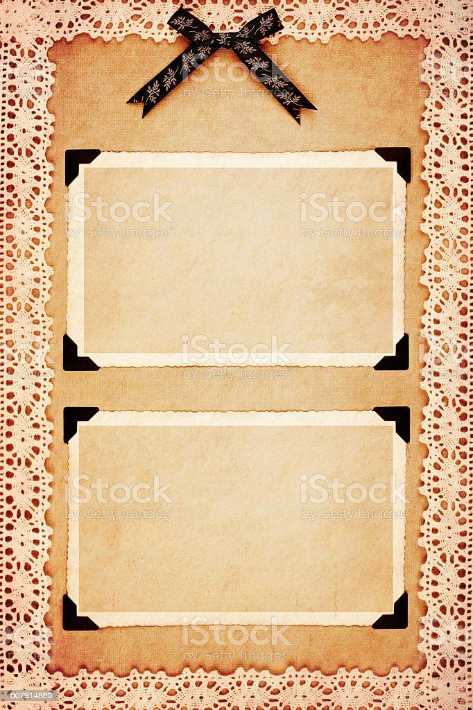 Sepia photo frames stock photo