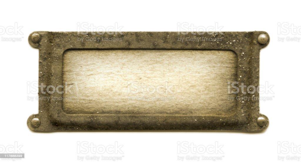 Sepia plaque stock photo