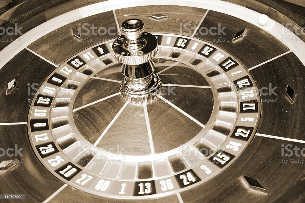 Sepia Roulette Table royalty-free stock photo