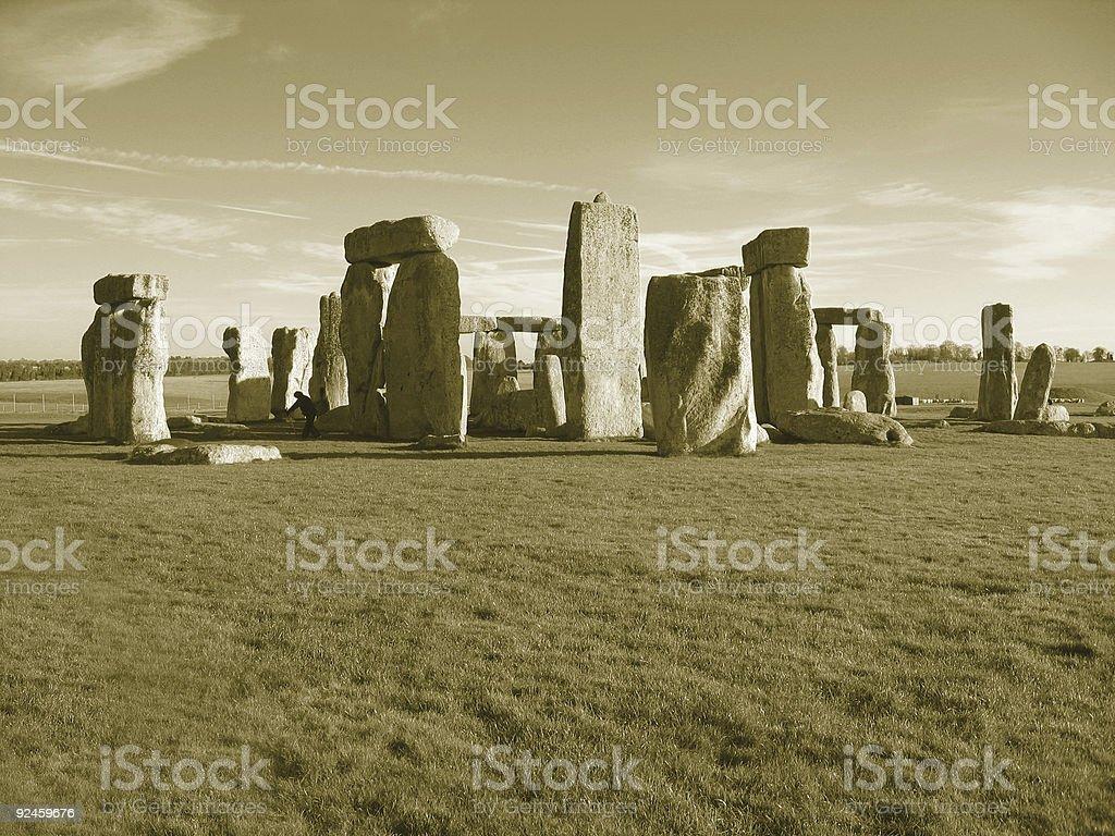 Sepia Stonehenge stock photo