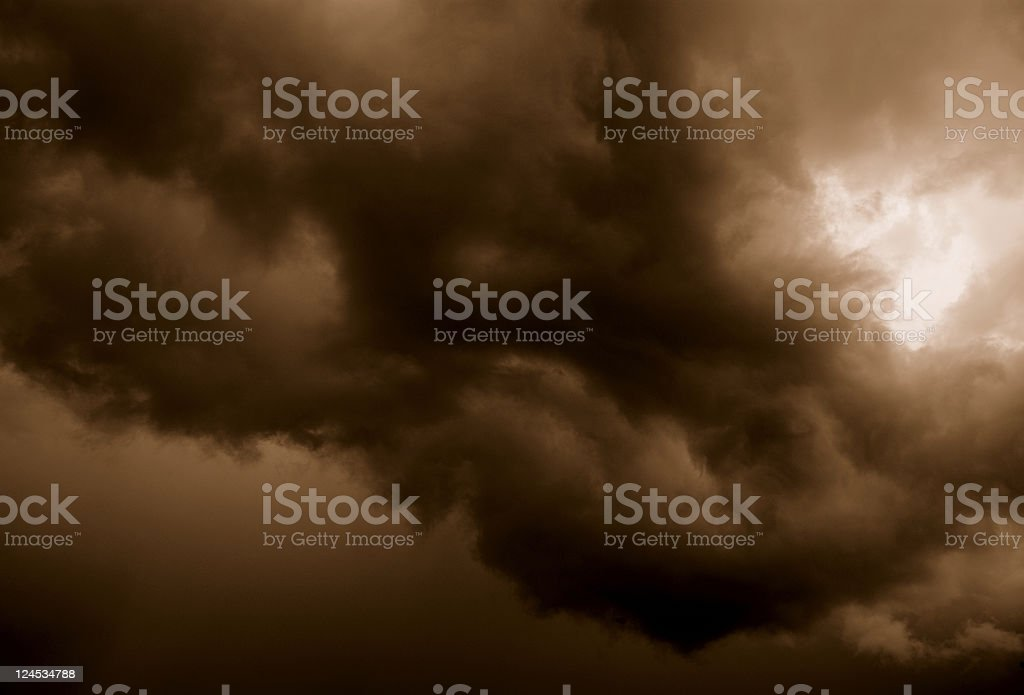 Sepia Storm royalty-free stock photo
