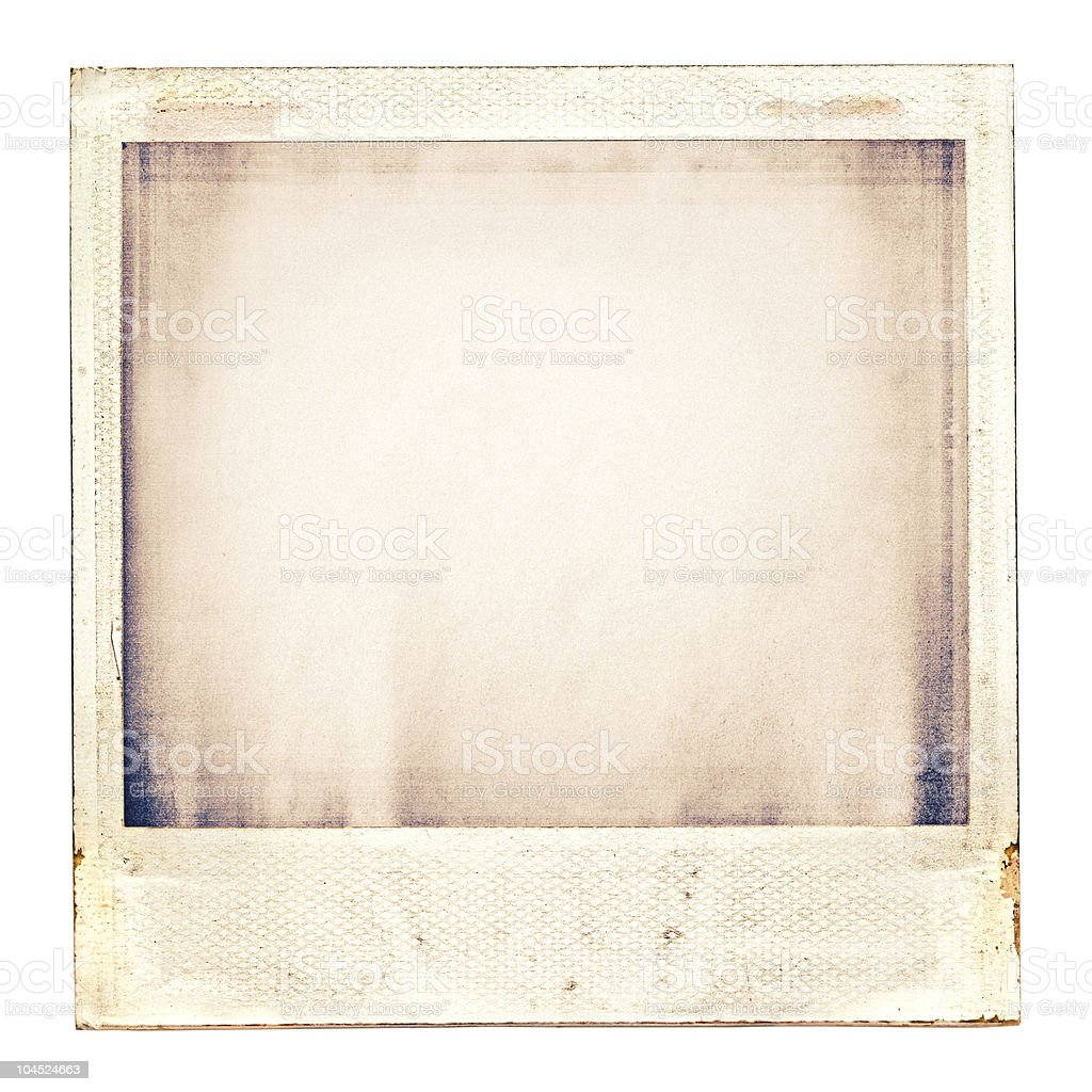 Sepia toned faded Instamatic photograph, no subject stock photo