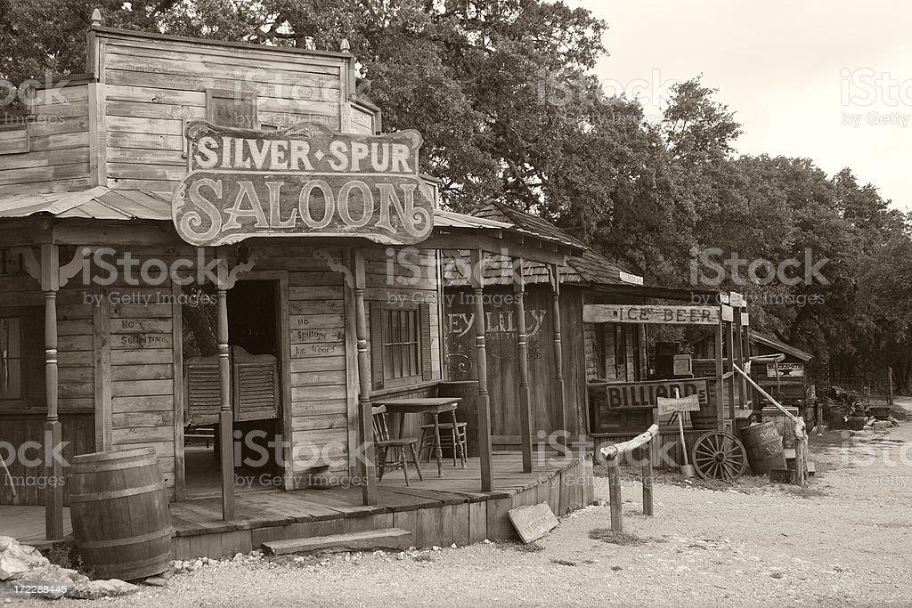 sepia town stock photo