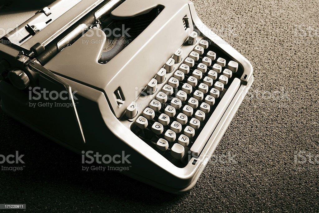 Sepia Typewriter royalty-free stock photo