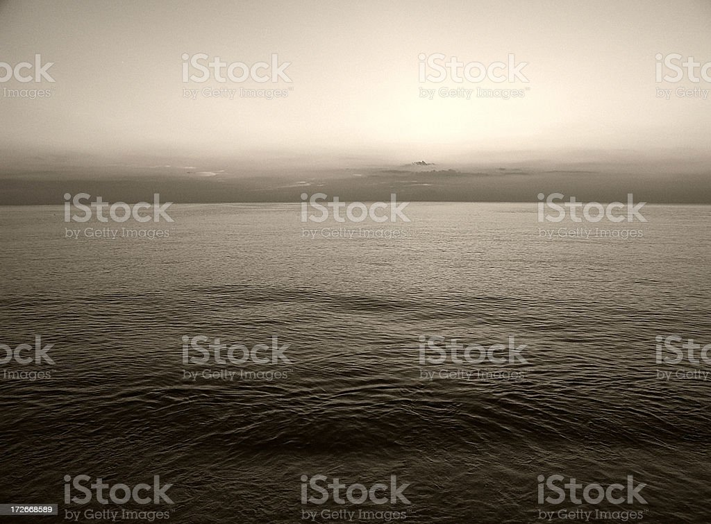 Sepia Water royalty-free stock photo
