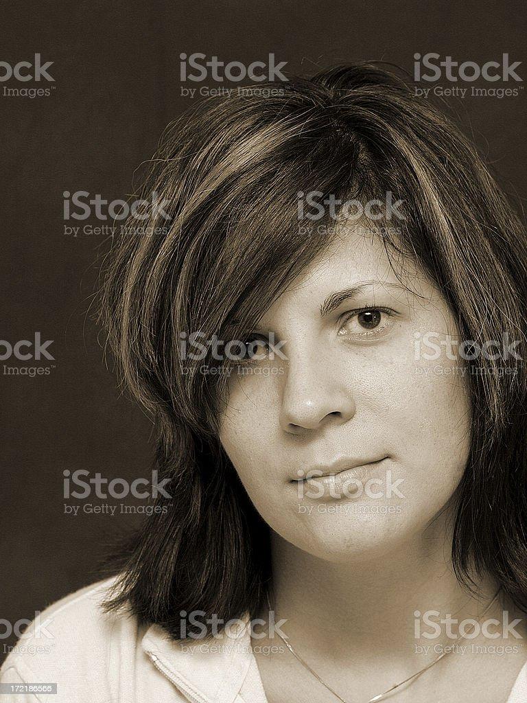 Sepia Woman royalty-free stock photo