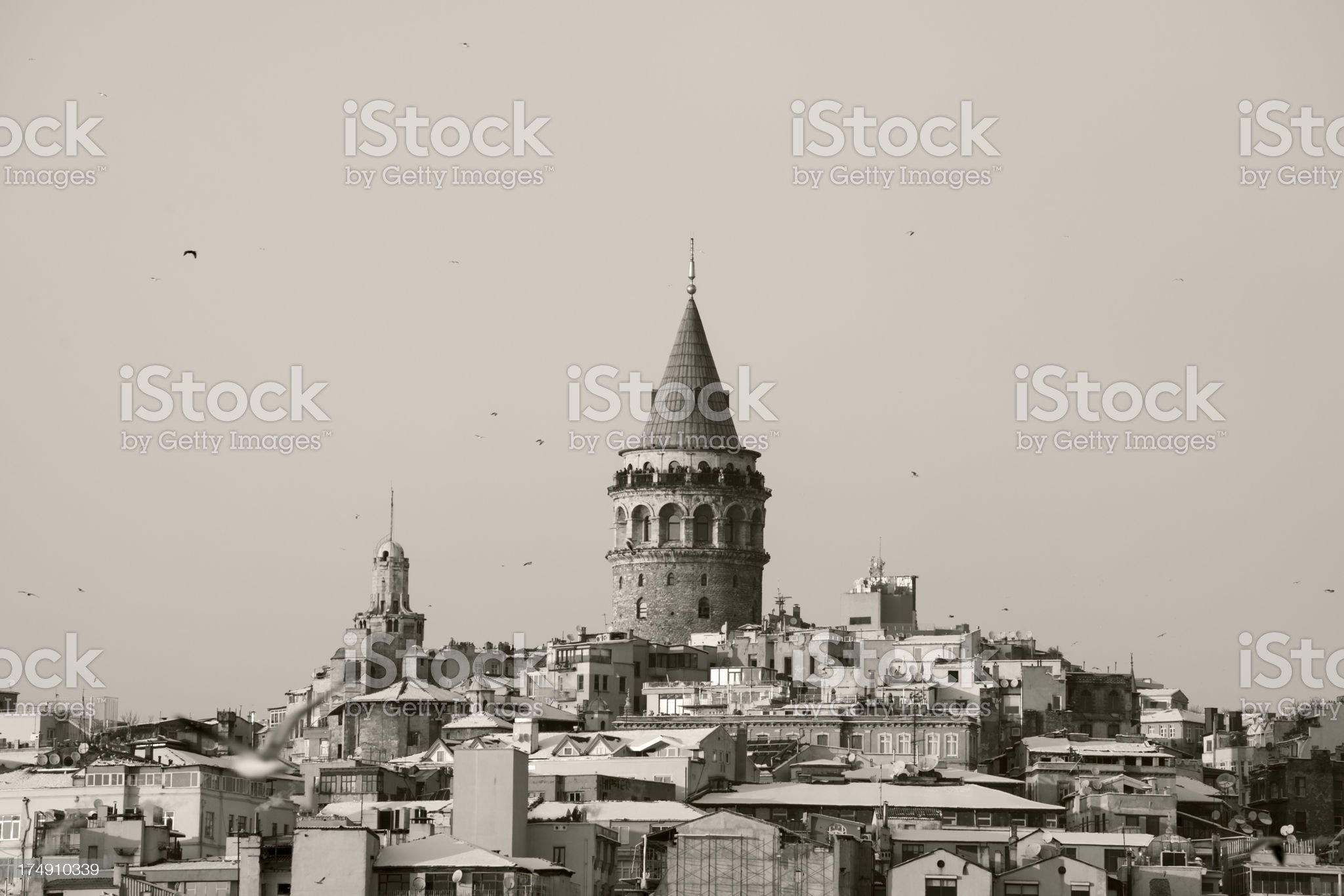 Galata Tower in Istanbul royalty-free stock photo