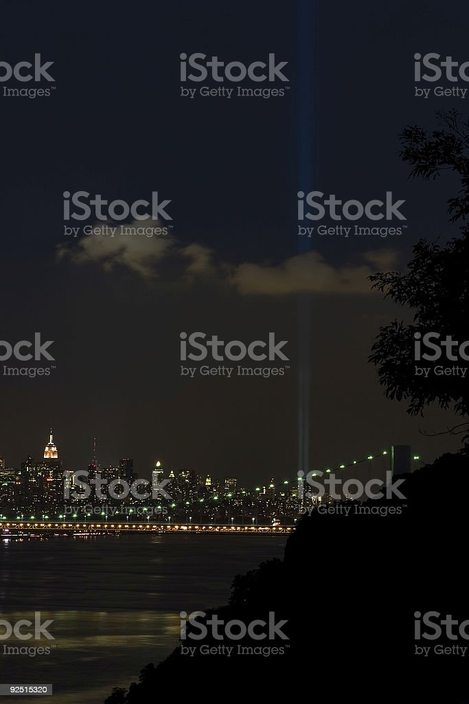 Sept 11 Lights royalty-free stock photo