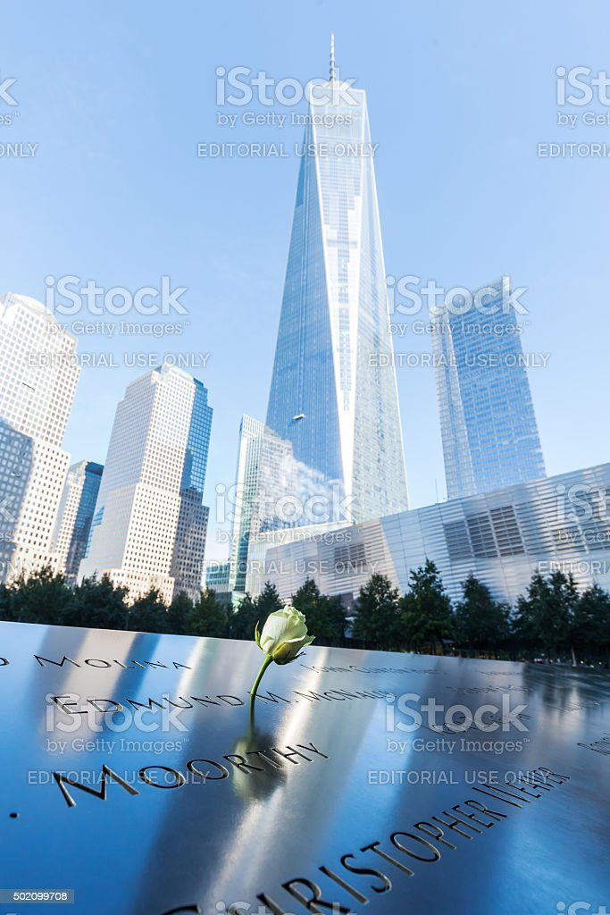 September 11 Memorial in Manhattan, NYC stock photo