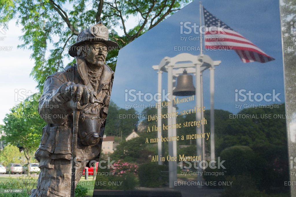 September 11th Memorial, Peekskill, NY stock photo