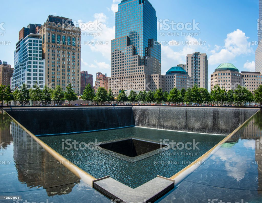 September 11th Memorial stock photo