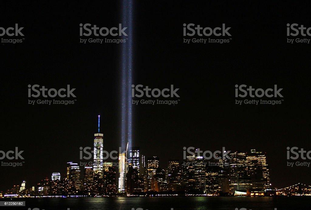 September 11th Tribute in Light stock photo