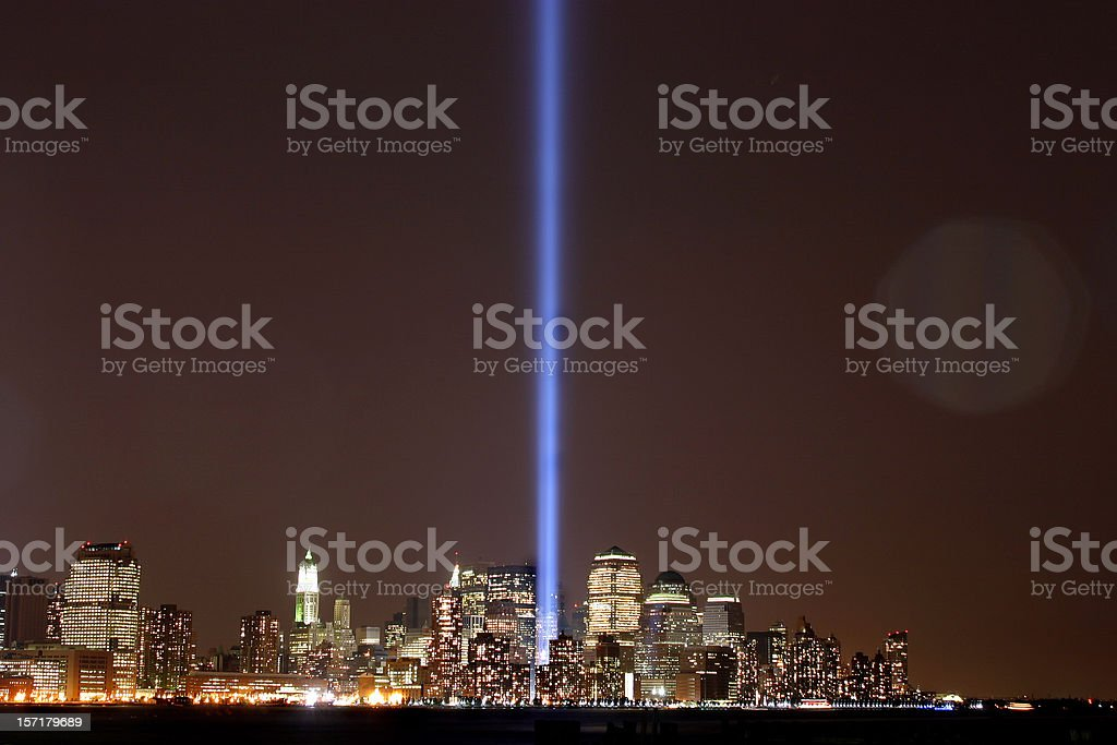 September 11th  Tribute Lights royalty-free stock photo