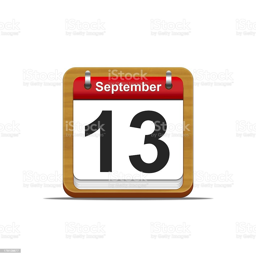 September 13. royalty-free stock photo