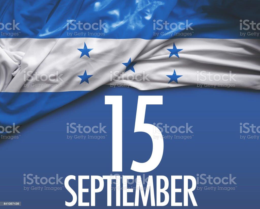September 15, Honduras Independence stock photo