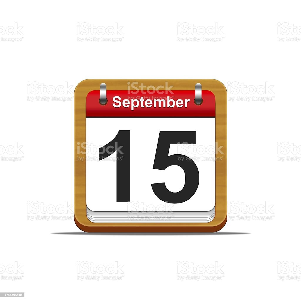 September 15. stock photo