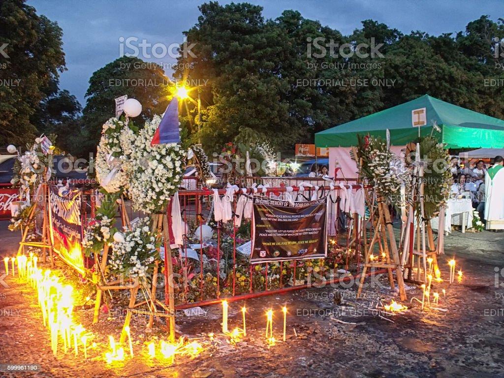 September 2 Blast Site in Davao stock photo